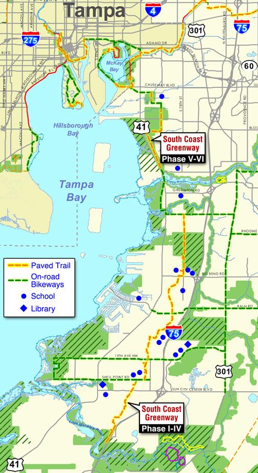 South Coast Greenway map