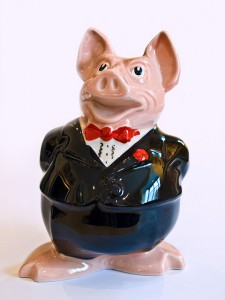 Pig in a suit