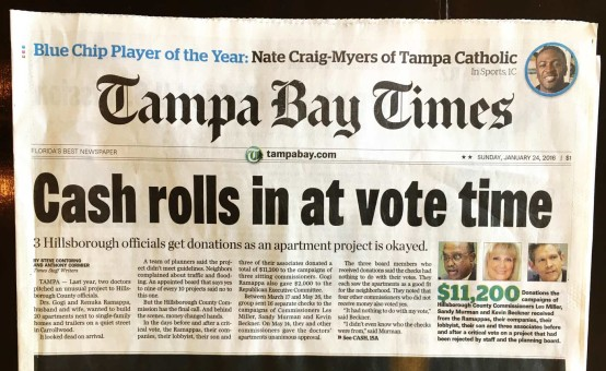 Cash rolls in at vote time