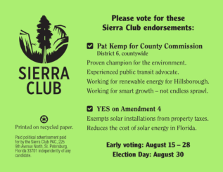 Sierra Club primary endorsements 2016