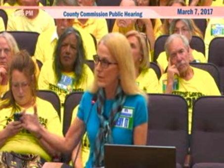 Mariella Smith speaks for Sierra Club against Urban Sprawl
